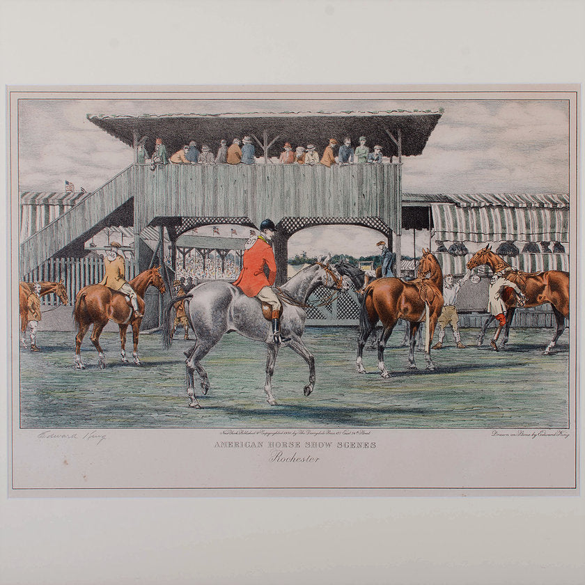 Edward King American Horse Show Lithograph