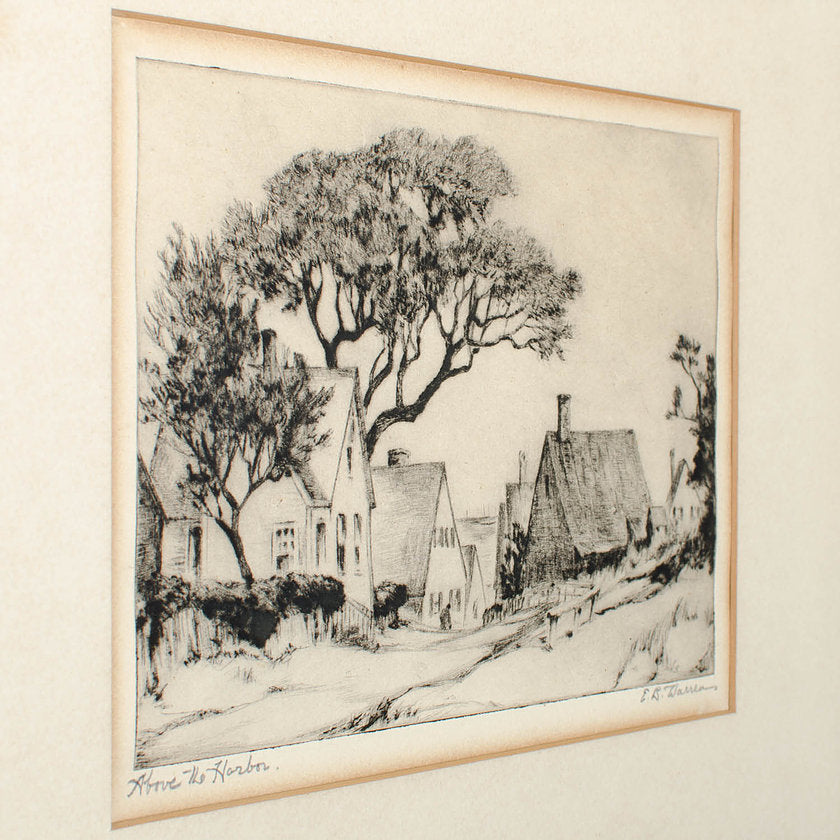 "E.B. Warren Etching ""Above the Harbor"""