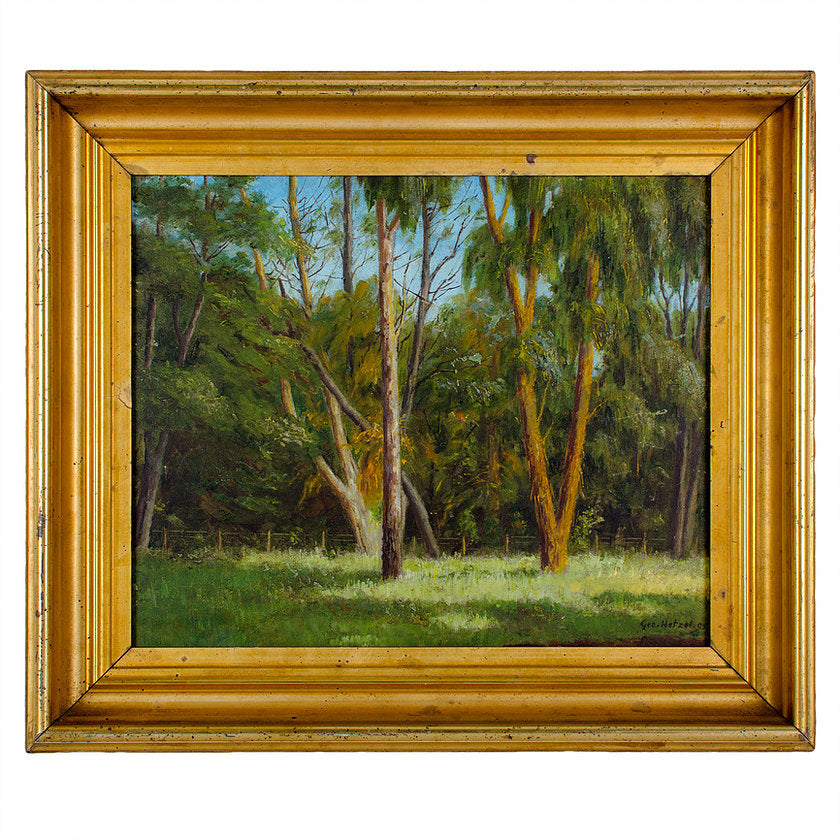 George Hetzel Landscape Oil on Board