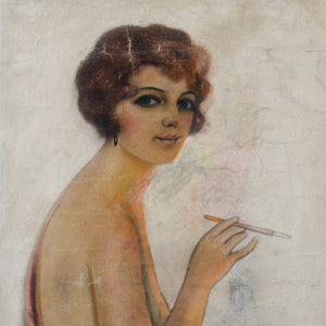 1920s Flapper Girl Cover Art Illustration by Frederick S. Manning