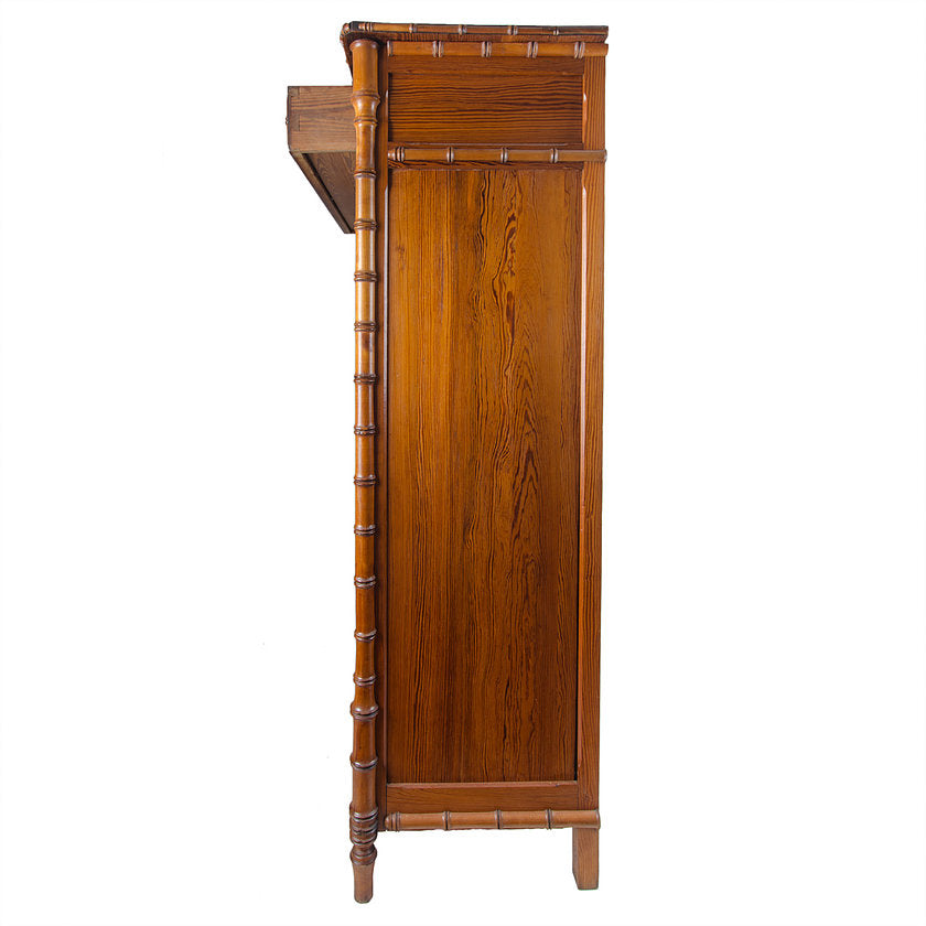French Colonial Faux Bamboo Armoire C. 1900