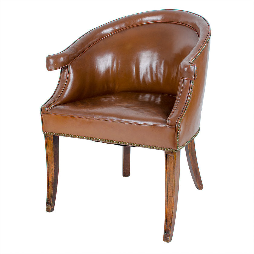 Leather Library Tub Chair