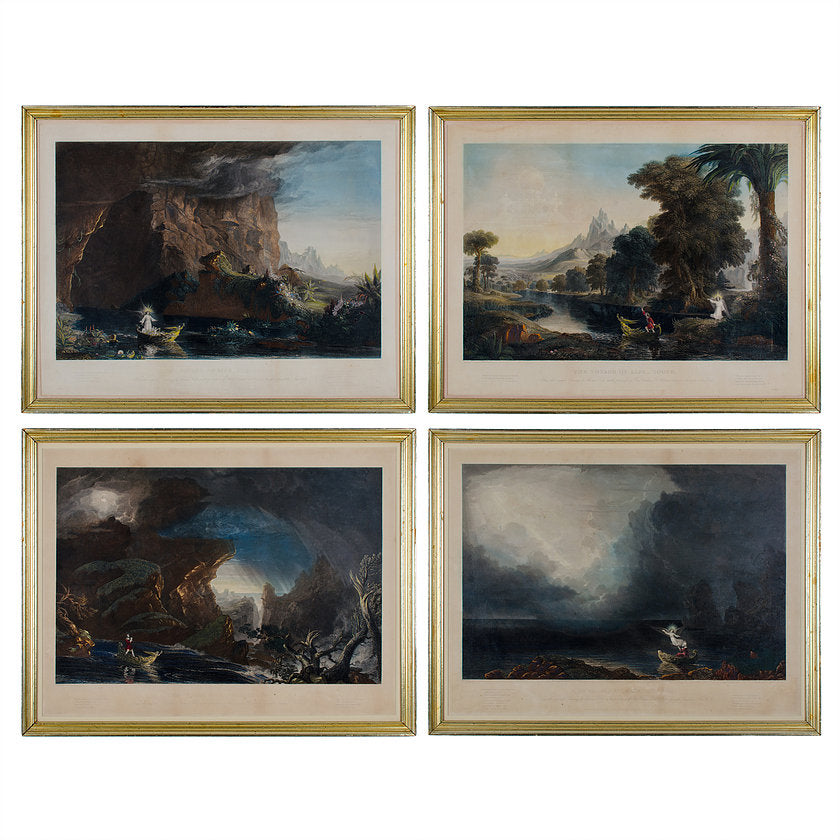 Thomas Cole, The Voyage of Life Framed Etchings - Set of 4
