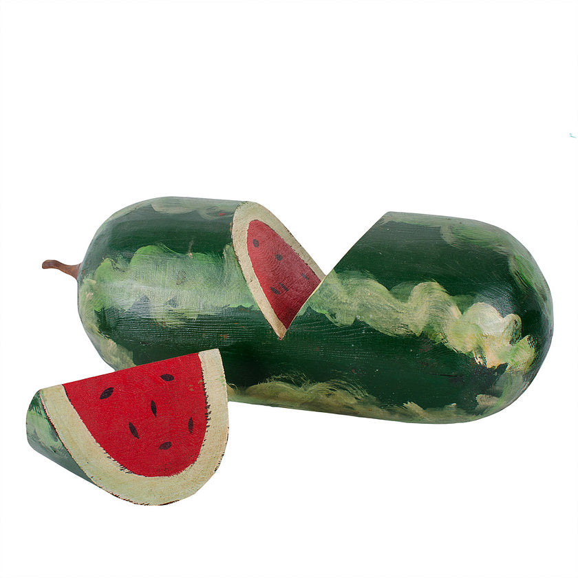 Folk Art Carved Watermelon