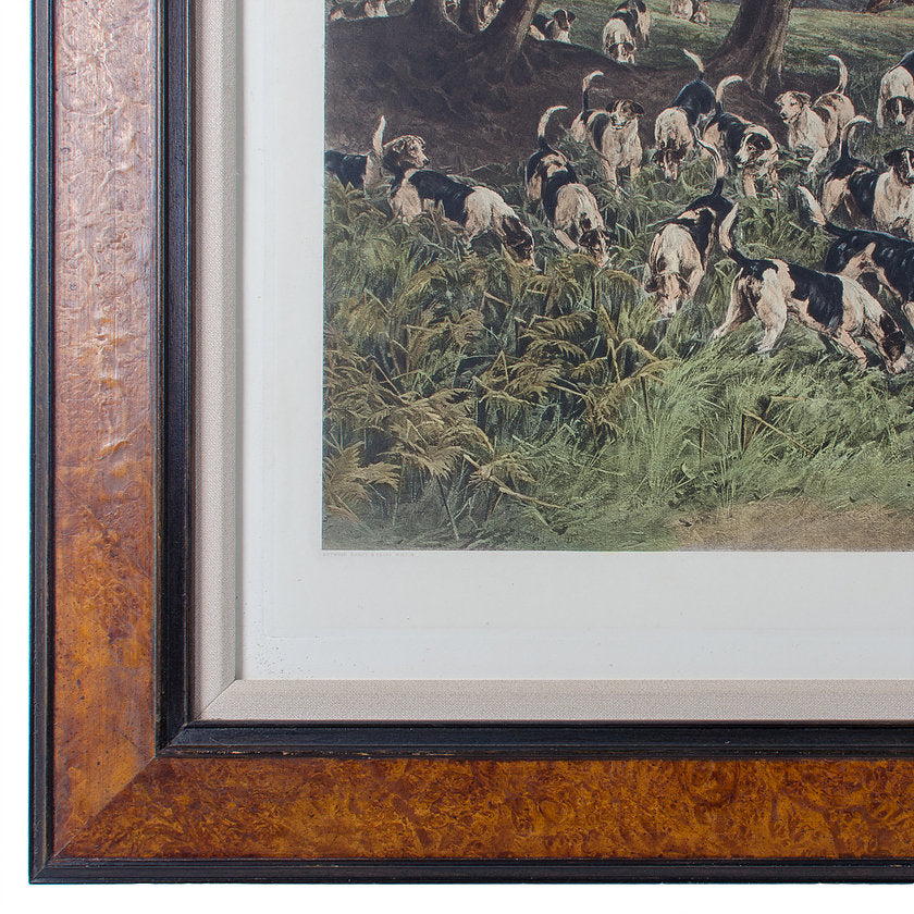 Lost Scent, Hunt Scene Intaglio Print After Heywood Hardy