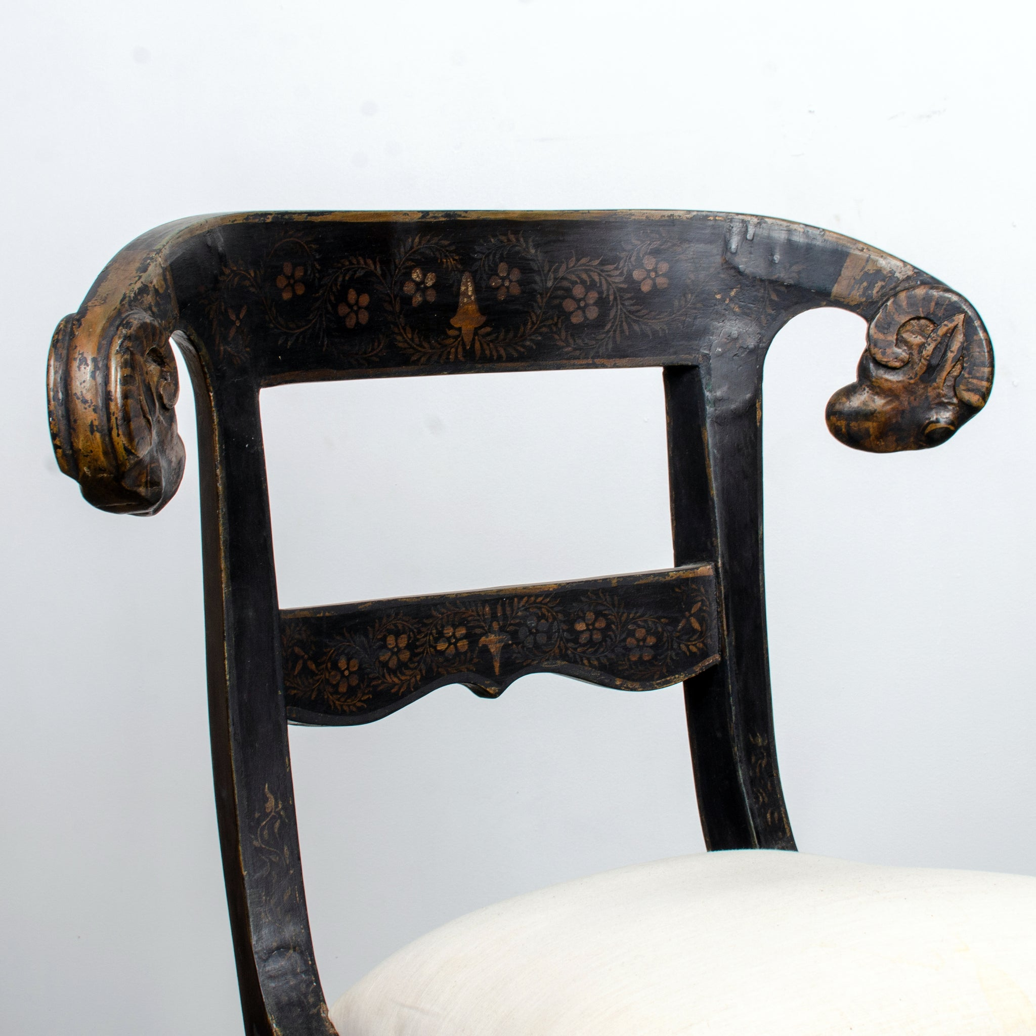 Anglo-Indian Ram's Head Chair