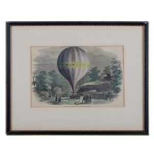 The Ascent of Mr. Green's Balloon, Engraving c1849