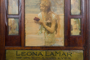 "Leona LaMar ""The Girl With a 1000 Eyes"" Vaudeville Mentalist Lobby Marquee"