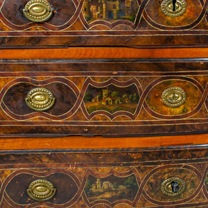 Swiss Baroque Painted Chest of Drawers c.1740
