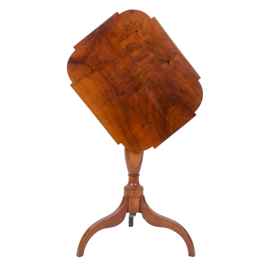 Federal Cherry Tilt-Top Candle Stand