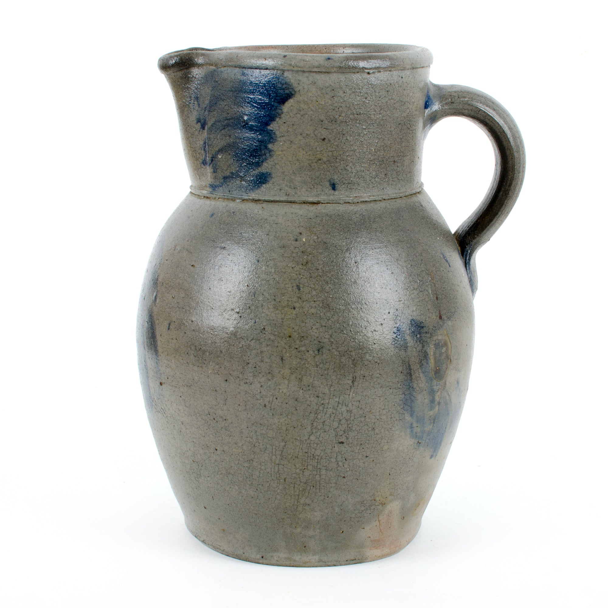 Circa 1870 Baltimore Floral Stoneware Pitcher
