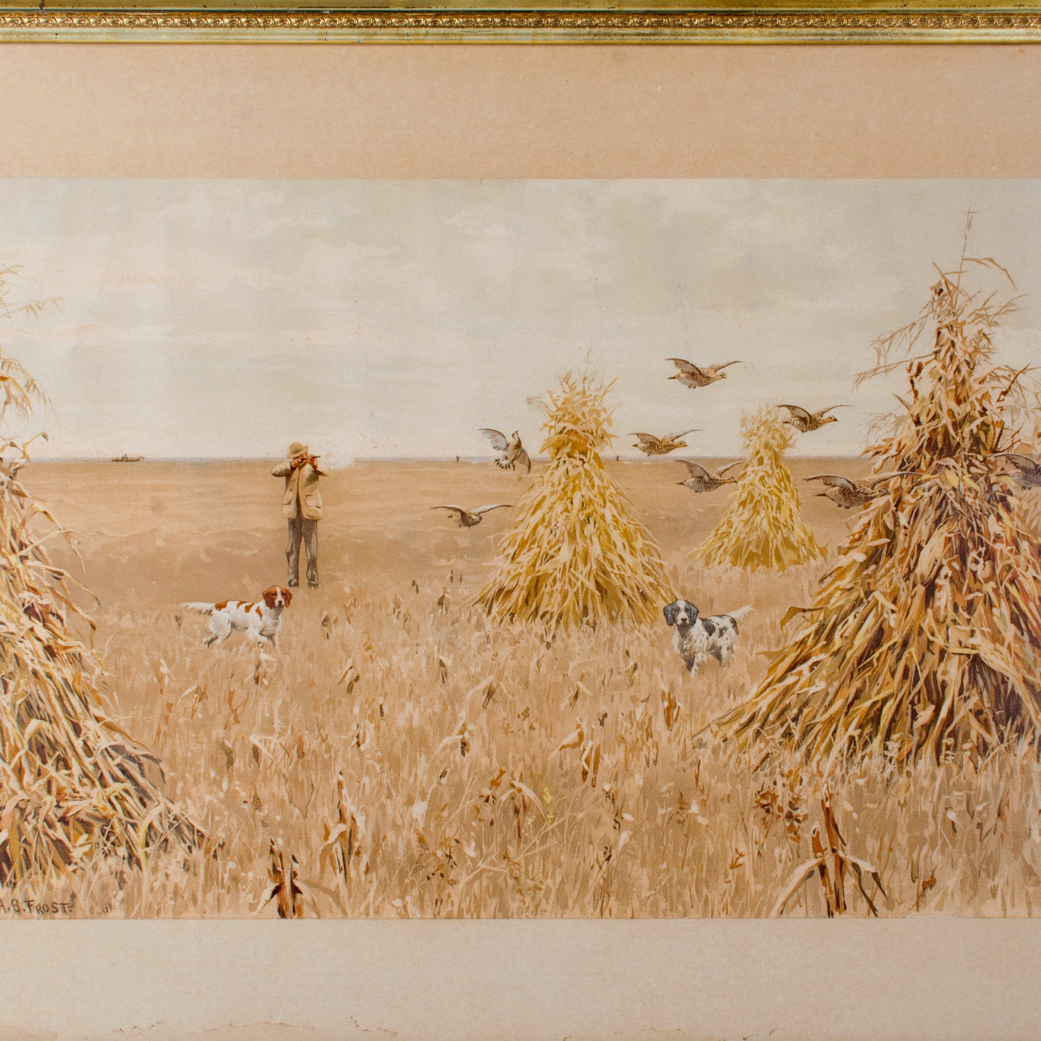 A.B. Frost 'Prairie Chicken' 1895 Chromolithograph from Shooting Pictures