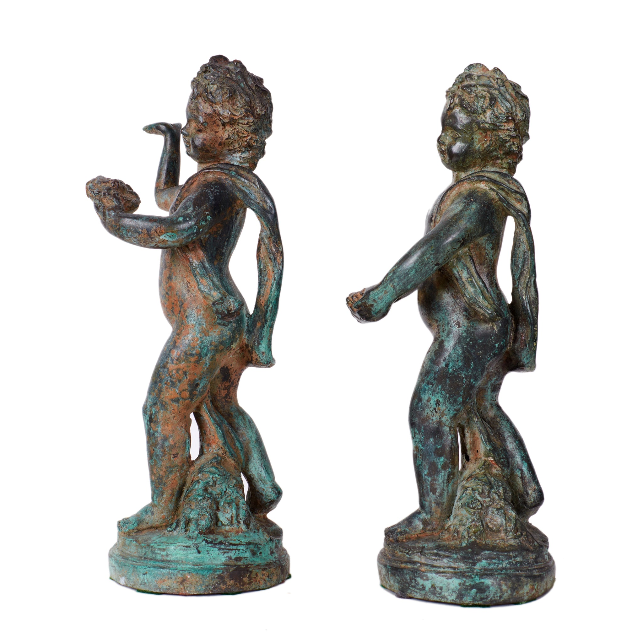 Putto Sculptures - a Pair