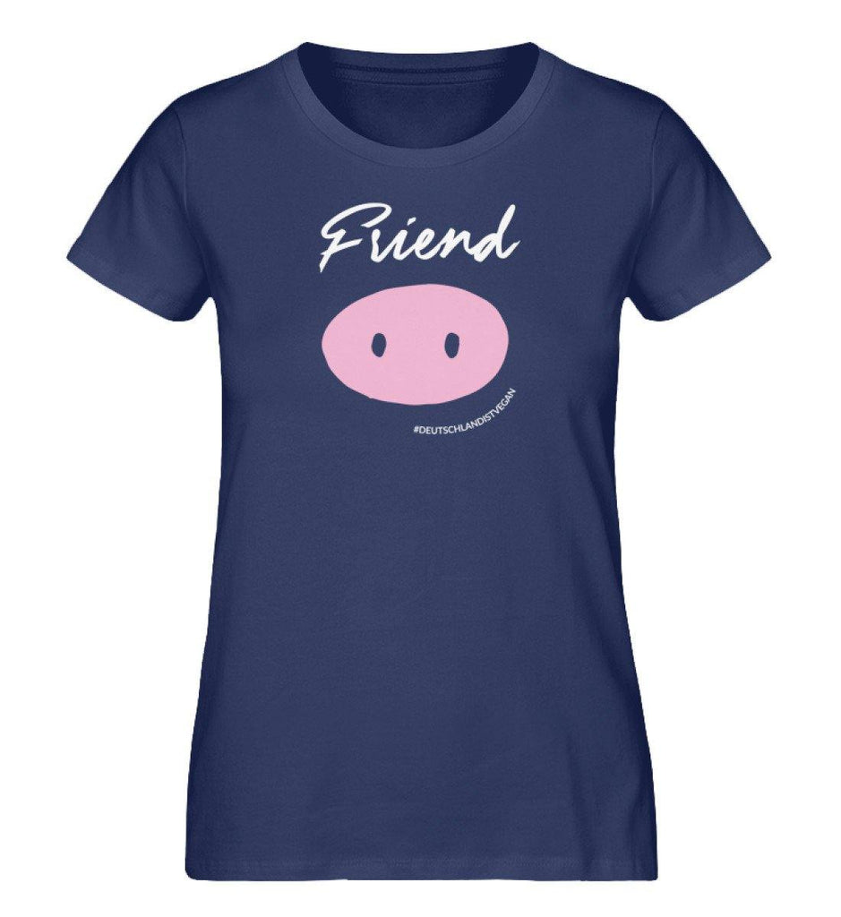 Friend (div)  - Damen Organic Shirt - TEAM VEGAN © vegan