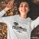 Earthling Nation - Unisex Organic Sweatshirt - TEAM VEGAN © vegan
