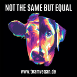 Not the same but equal - Auto-Sticker - Team Vegan