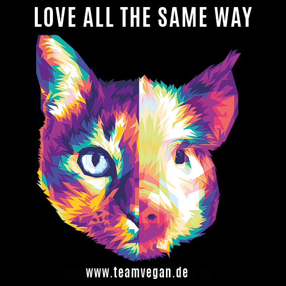 Love all the same way -  Autofolienplott klein - Team Vegan