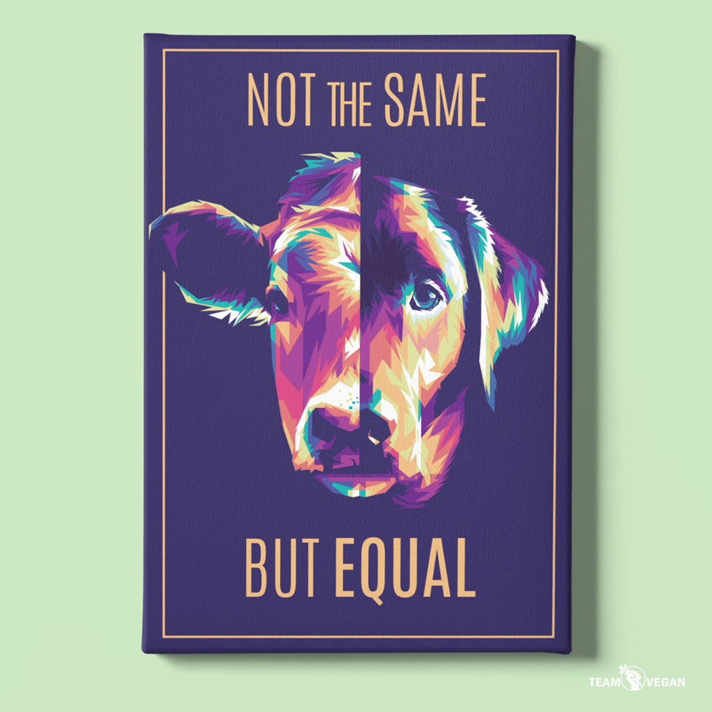 Not the same but equal - Leinwand - Team Vegan