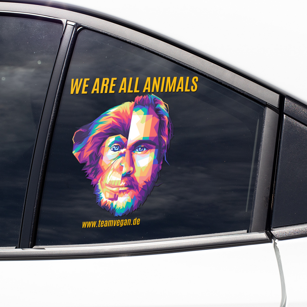 We are all animals - Auto-Sticker
