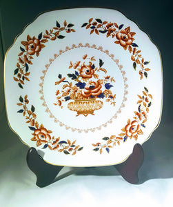 Blue & Rust Floral  11 inch Platter/ ROYAL WINDSOR by CROWN STAFFORDSHIRE/ Imari/ Serveware