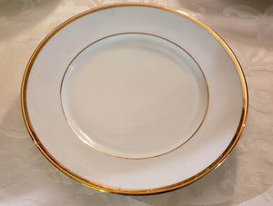 Brasserie GOLD RIM HeavyDuty Dinner Plates by William-Sonoma,Set of 4