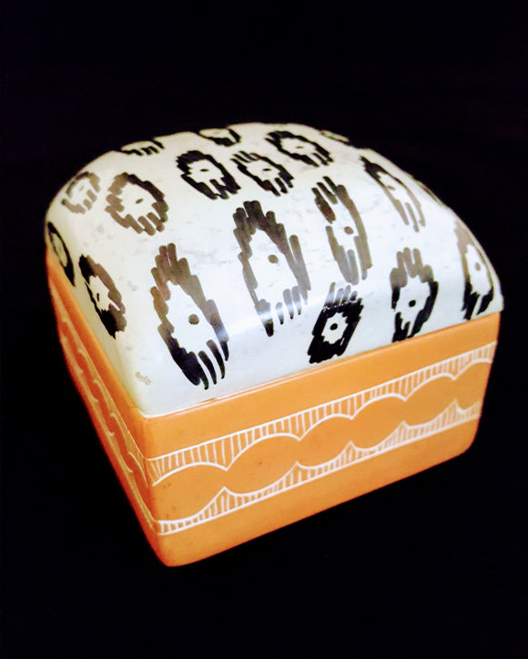 AFROCENTRIC/ CONTEMPORARY ACCENT/GIFT, HAND-CRAFTED DOME TOP STONE BOX/KENYA