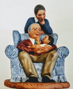 "BLACK FAMILY FIGURINE: AVON'S ""PASSING DOWN THE DREAM"", AFRICAN-AMERICAN VERSION"