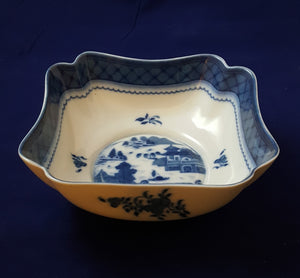 MOTTAHEDEH BLUE CANTON SMALL  SQUARE BOWL HC126/BLUE&WHITE/HISTORIC CHARLESTON COLLECTION