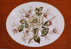 OLD ROSE by JOHN MADDOCK&SONS SERVING PLATTER/GIFT/HARVEST/FALL