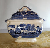 SAKAKIBARA BLUE WILLOW TUREEN SERVING WARE