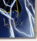 BLACK SUPERHEROES ORIGINAL GRAPHIC/POSTER--STORM/X-MEN/MARVEL/ AFROCENTRIC ART/LAMINATED, READY TO DISPLAY