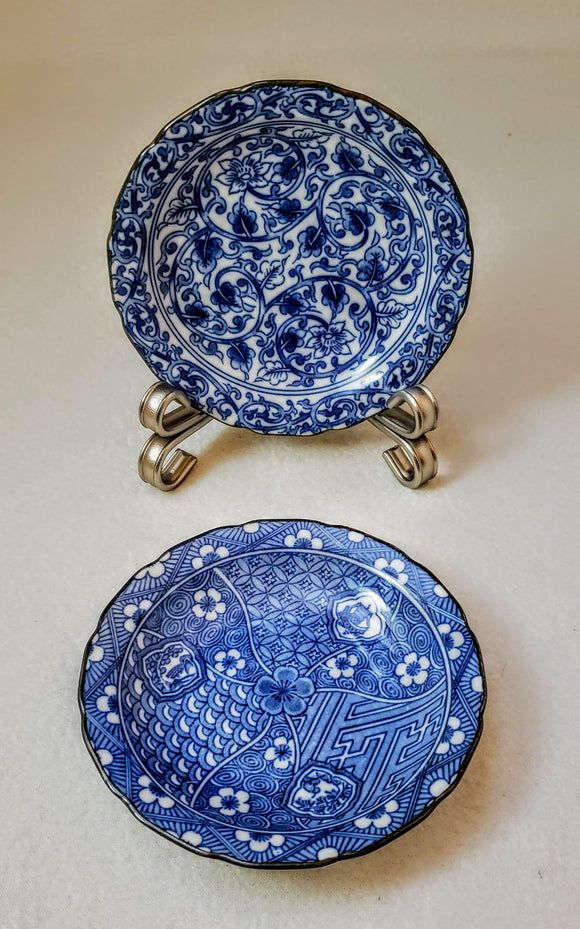 TAKAHASHI VINTAGE SMALL PORCELAIN PLATES, SET OF 2