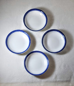WILLIAMS-SONOMA CONTEMPORARY BLUE&WHITE  BOWL, SET OF 4