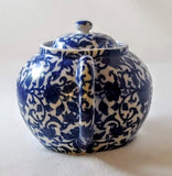 WILLIAMS-SONOMA BLUE&WHITE FLORAL TEAPOT--RE-CHARGE OR RELAX