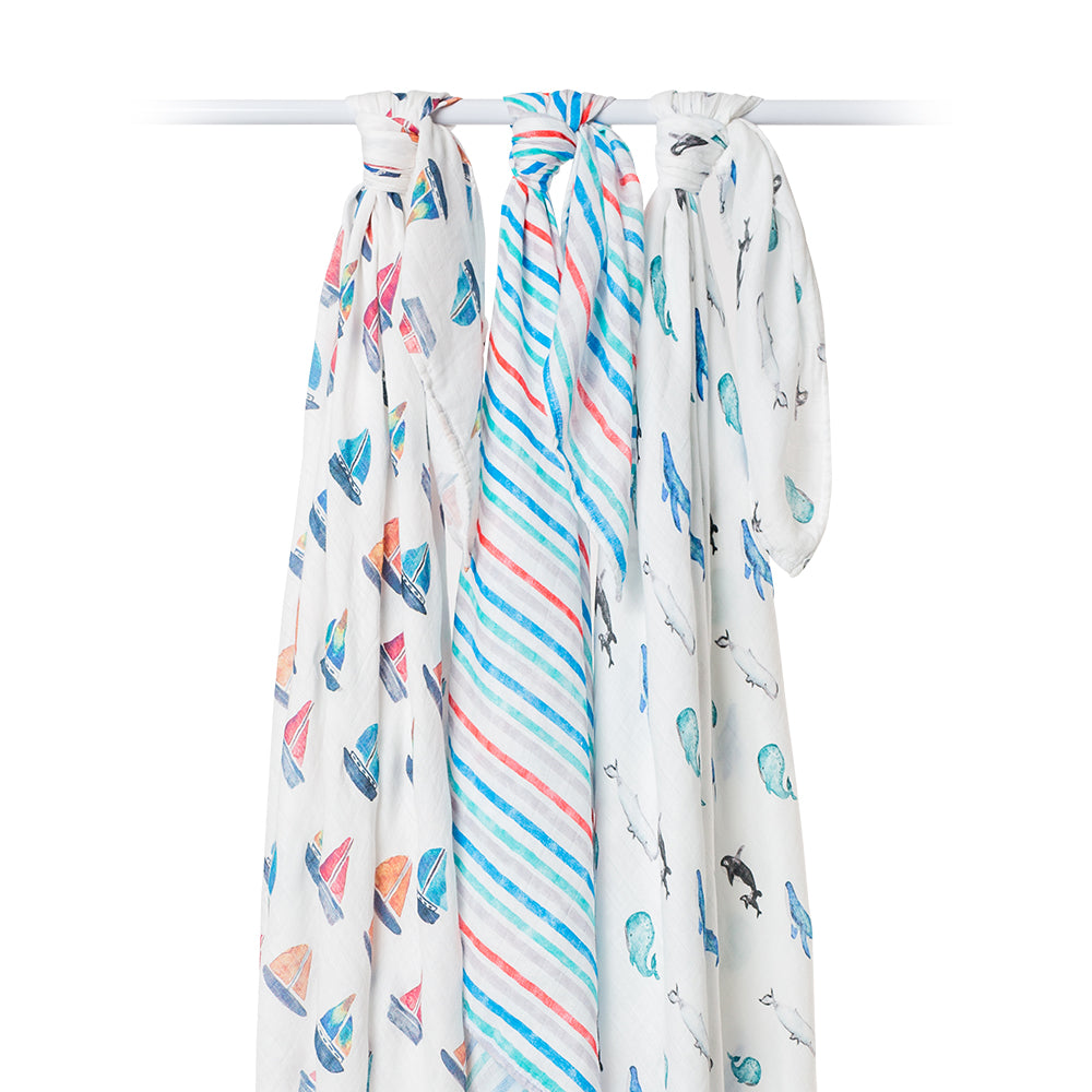 Out At Sea Swaddling Blankets