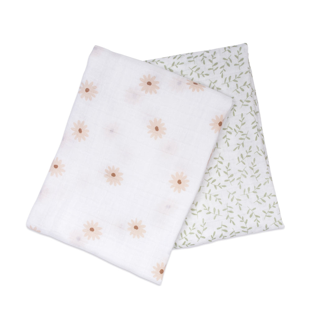 Daisies & Greenery Swaddles