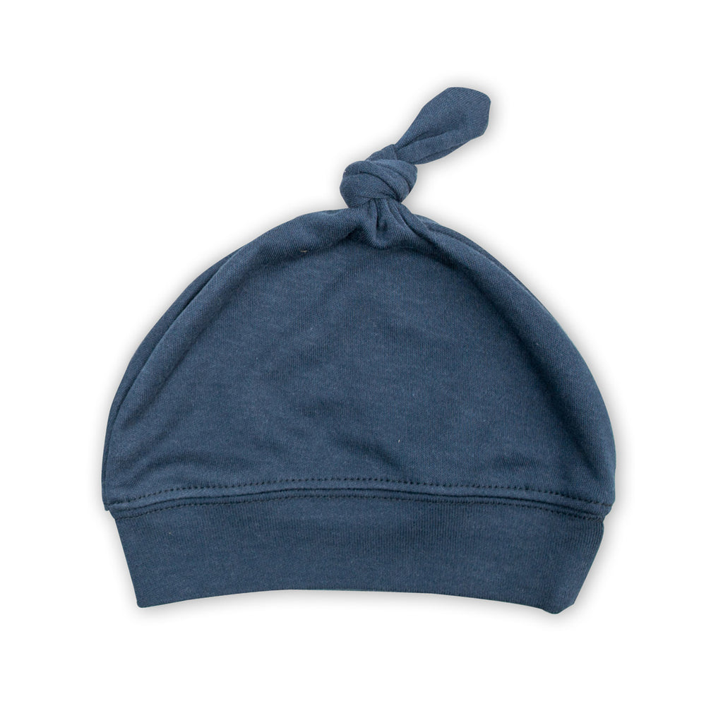 Navy Top Knot Hat