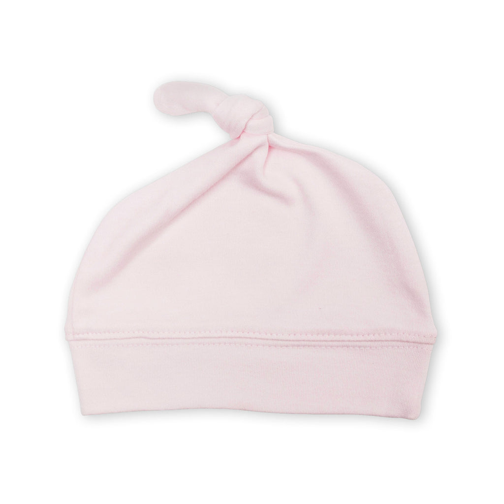 Pink Top Knot Hat