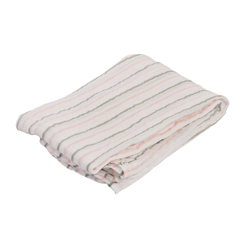 Pink Messy Stripe Swaddling Blanket