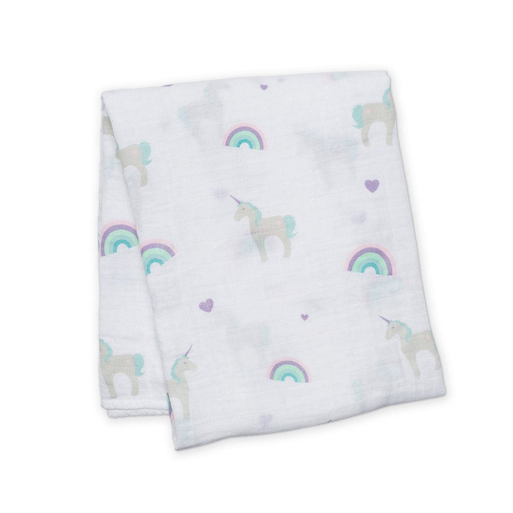 Rainbows & Unicorns Swaddling Blanket