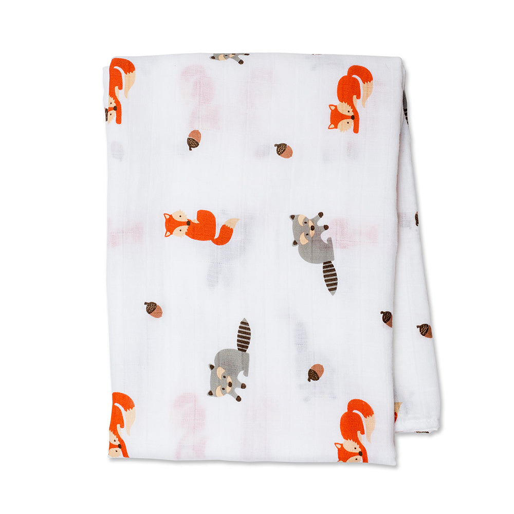 Forest Friends Swaddling Blanket