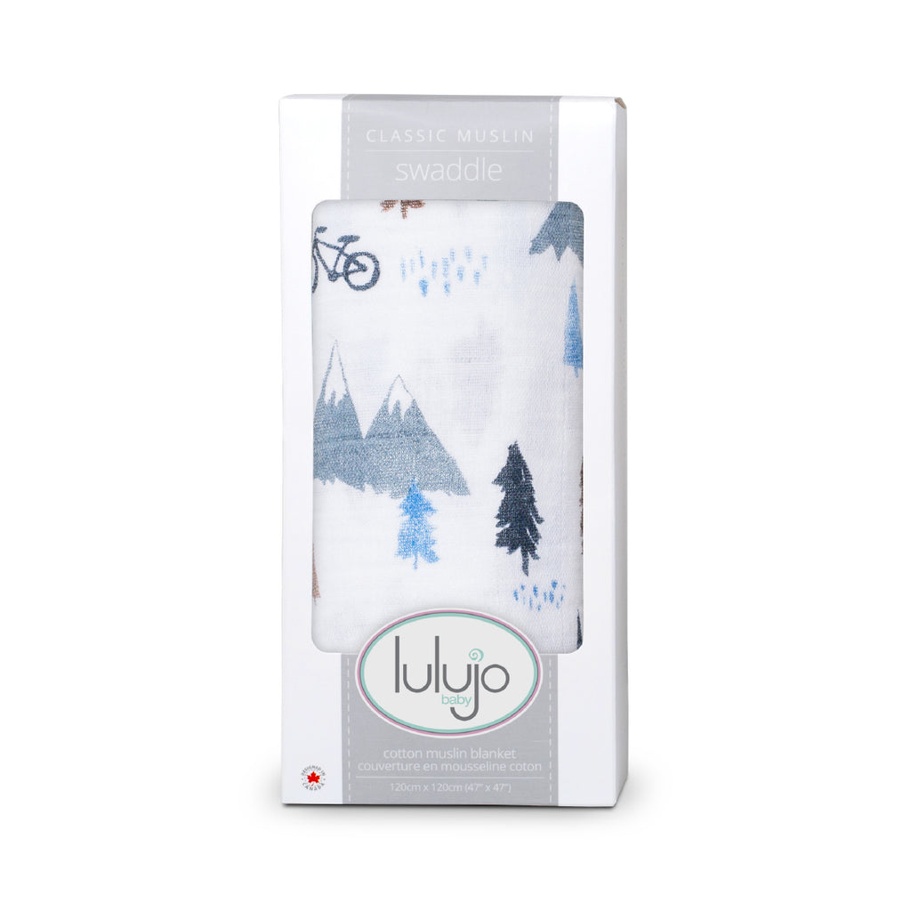 Mountain Top Swaddling Blanket