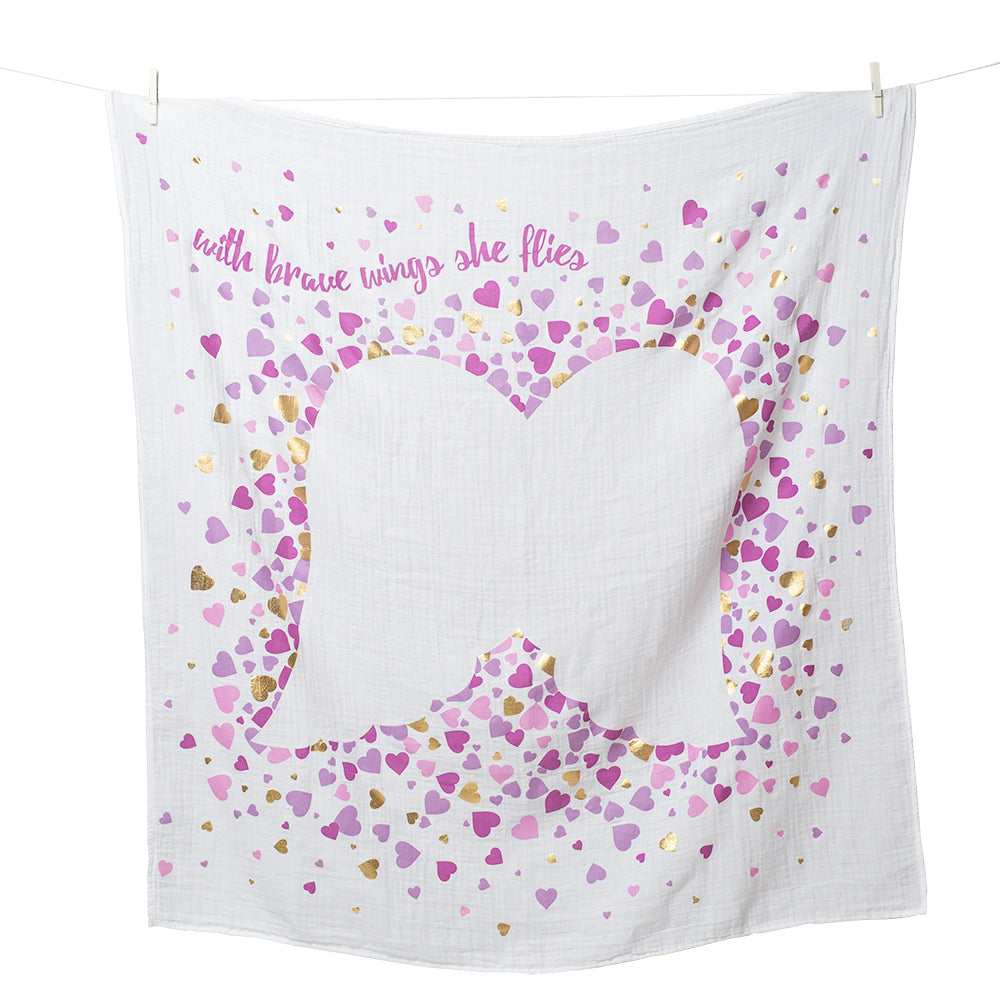 With Brave Wings She Flies Milestone Blanket
