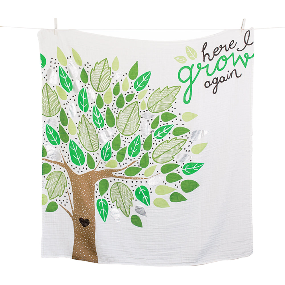 Here I Grow Again Milestone Blanket