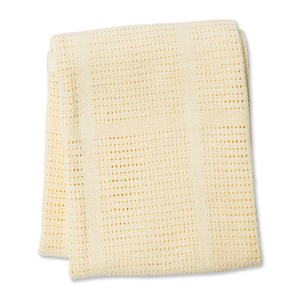 Yellow Cellular Blanket
