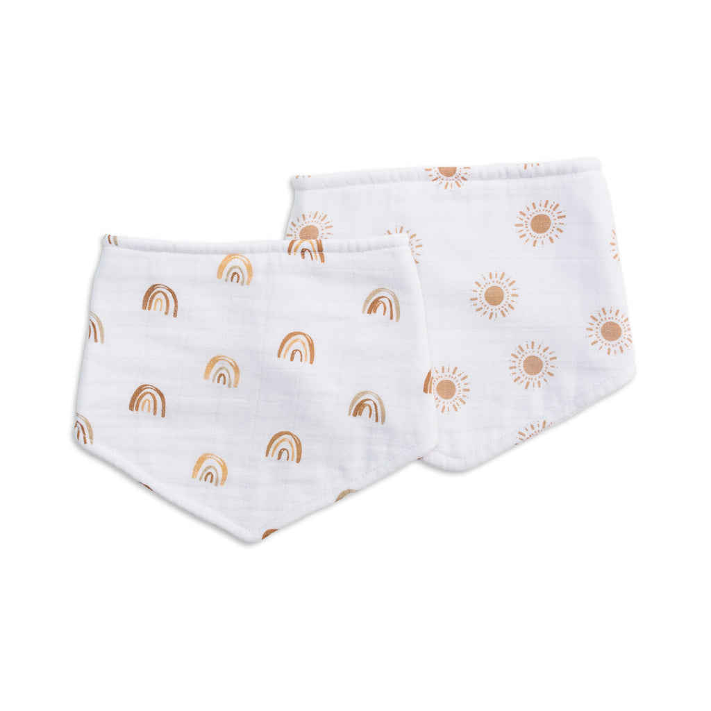 Rainbows & Suns Bandana Bibs