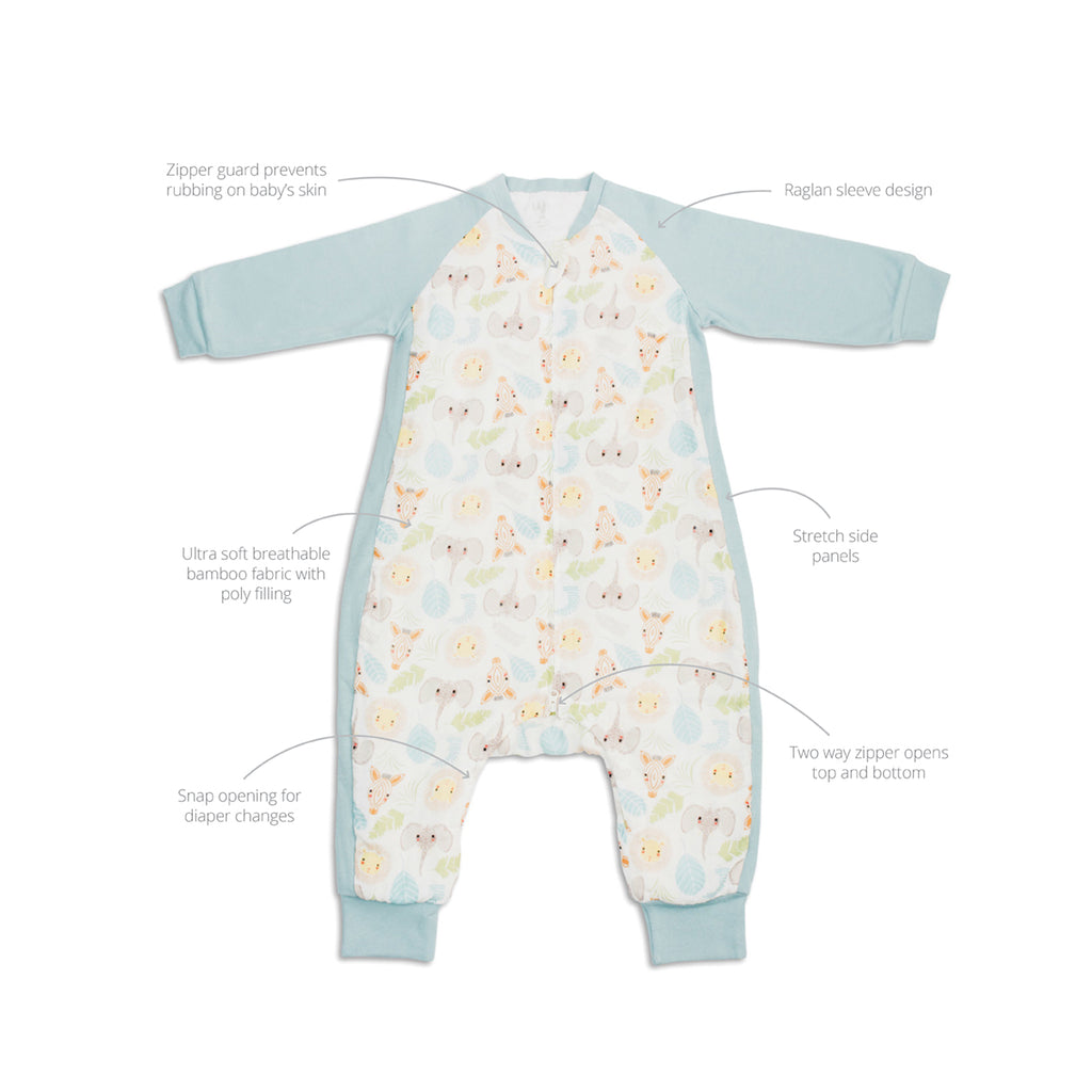 Jungle Safari Sleep Suit 2.5 TOG Long Sleeve