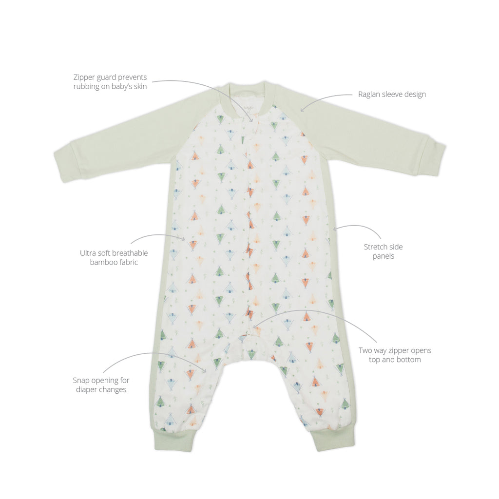Camping Sleep Suit 0.6 TOG Long Sleeve