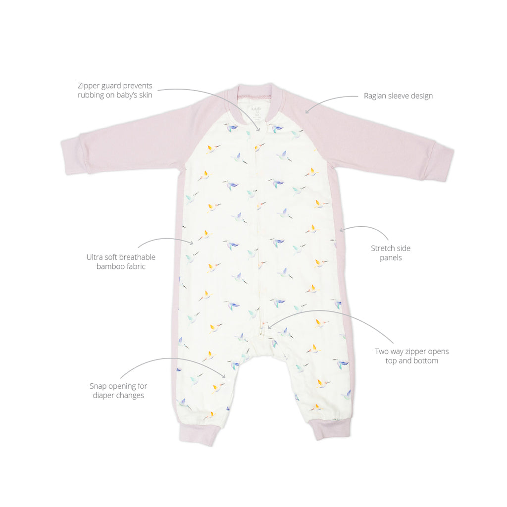Hummingbird Sleep Suit 0.6 TOG Long Sleeve