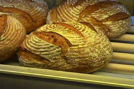 Hofer's Sourdough Rye Bread (Sauerteigbrot) (Four 2 pound loaves per case)